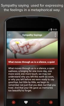 Condolence & Sympathy Sayings apk screenshot