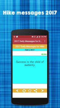 2017 Daily Messages for Hike apk screenshot