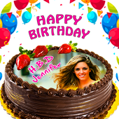 Pictures On Birthday Cake With Effects icon