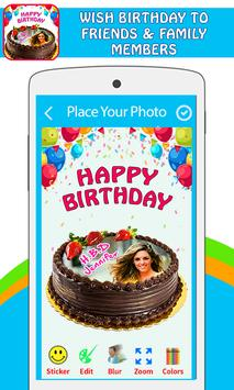Pictures On Birthday Cake With Effects poster