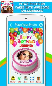 Pictures On Birthday Cake With Effects screenshot 1