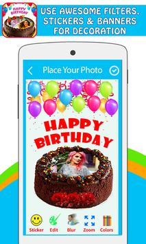 Pictures On Birthday Cake With Effects screenshot 2