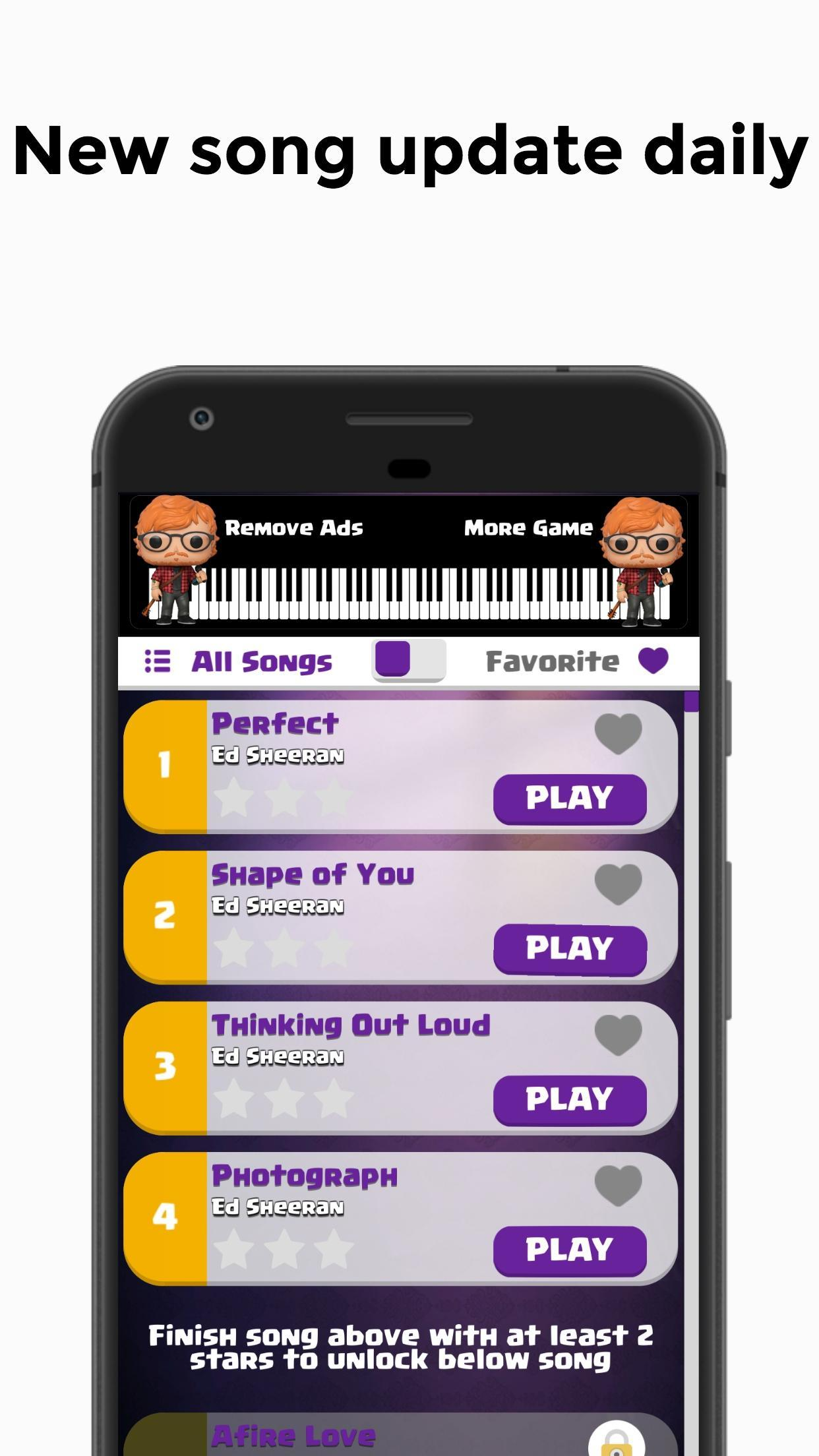 Ed Sheeran - Shape of You Piano Tiles for Android - APK Download