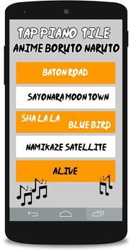 Tap Piano Tile - Anime Boruto Naruto poster