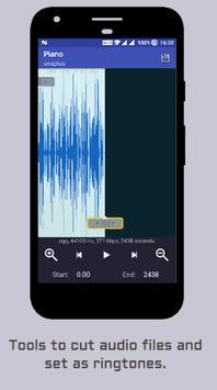 MP3 ringtone cutter apk screenshot