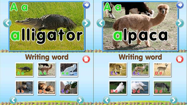 ABC Animal Flashcard Write Apk Screenshot