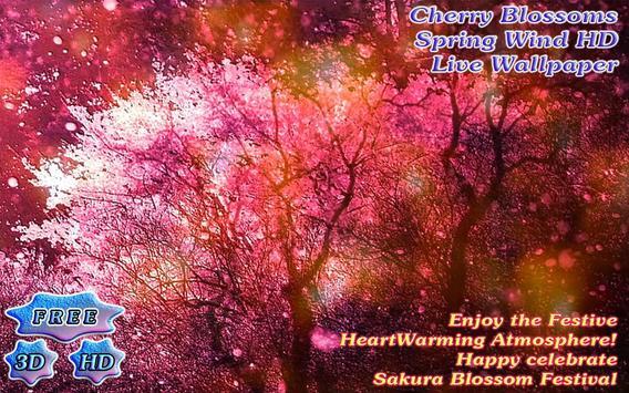 Purple Cherry Blossoms Spring Wind screenshot 1