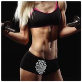 Fitness Girls Screen lock icon