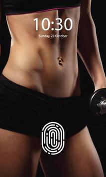 Fitness Girls Screen lock poster