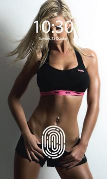 Fitness Girls Screen lock screenshot 3
