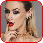 Piercing photo editor icon