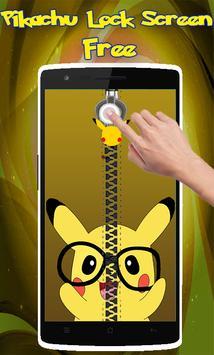 Pikachu Zipper Lock Screen poster