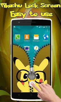 Pikachu Zipper Lock Screen apk screenshot
