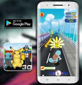 Temple Pikachu Subway and Squirtle Run apk screenshot