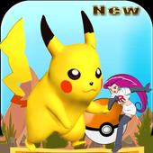 pikachu eevee run icon
