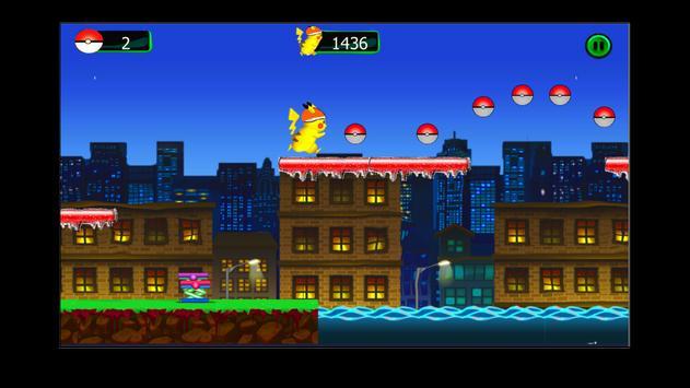 pikachu eevee run poster