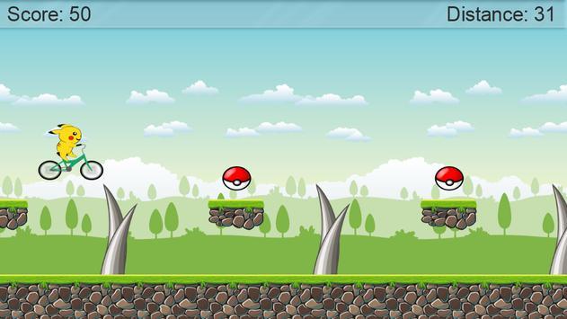 BMX Pikachu Go Bike screenshot 1