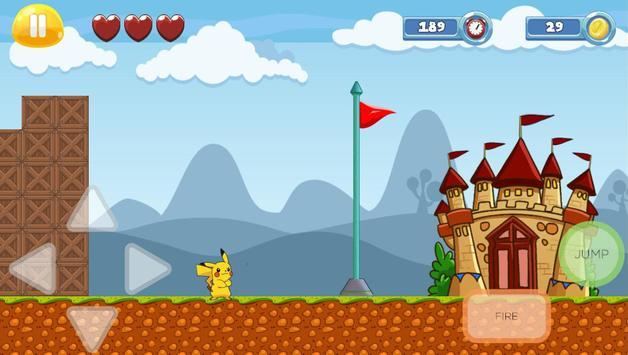 Pikacu Jungle Adventure - Super World screenshot 9