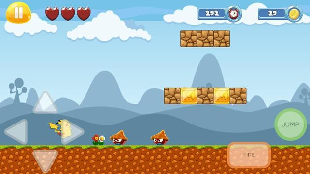 Pikacu Jungle Adventure - Super World screenshot 11