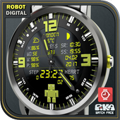 PiKA Robot digital Watch Face icon