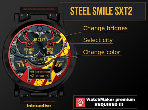 Steel smile SXT2 Watch Face poster