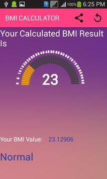 BMI CALCULATOR screenshot 5
