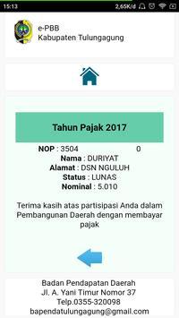 ePBB Kabupaten Tulungagung screenshot 10