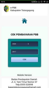 ePBB Kabupaten Tulungagung screenshot 1