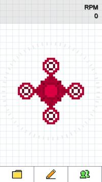 Pixel Fidget Spinner - Fidget Spinner Builder poster