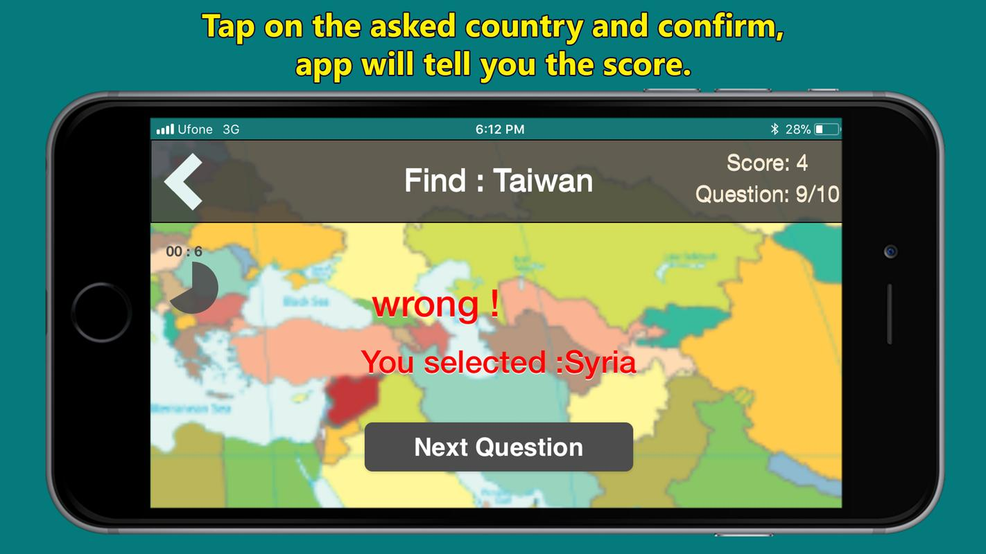 World map geography quiz for android apk download world map geography quiz captura de pantalla 4 gumiabroncs Images