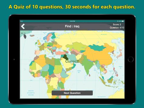 World map geography quiz for android apk download world map geography quiz screenshot gumiabroncs Choice Image