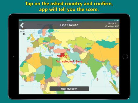 World map geography quiz for android apk download world map geography quiz captura de pantalla 9 gumiabroncs Choice Image