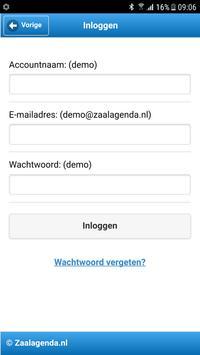 Zaalagenda screenshot 2