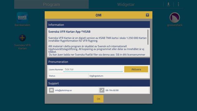 Svenska VFR Kartan apk screenshot