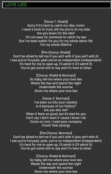 Words of songs lyrics
