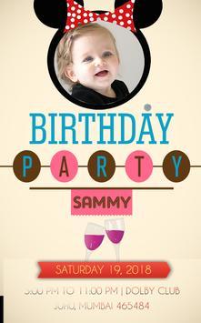 birthday invitation free apk screenshot