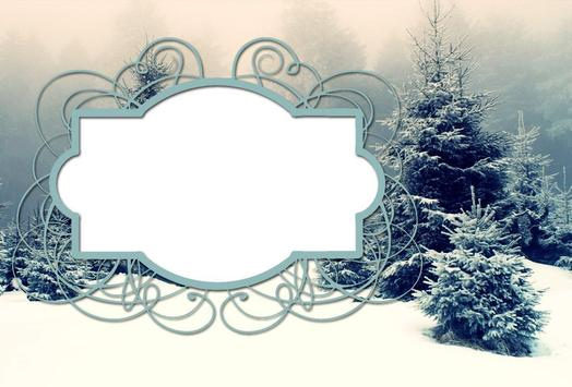 winter frames photo effects poster - Winter Photo Frames