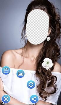 Flowers Hairstyle Photo Frames screenshot 10