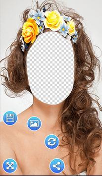 Flowers Hairstyle Photo Frames screenshot 1