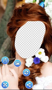 Flowers Hairstyle Photo Frames screenshot 3