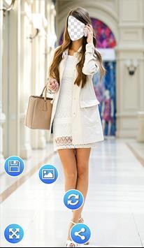 Girl Short Dress Photo Frames apk screenshot