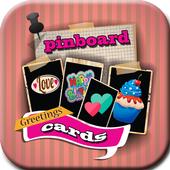 Pin Board Greeting Cards icon