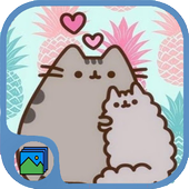 Cute Pusheen Cat Wallpaper HD icon