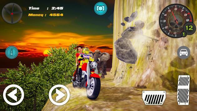 Hill Climb Bike Taxi Rider poster