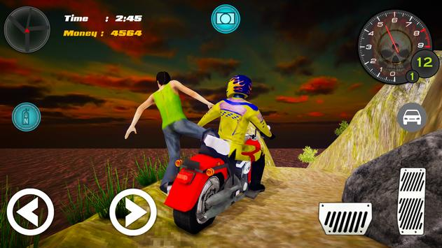 Hill Climb Bike Taxi Rider screenshot 5
