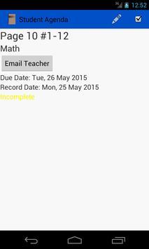 Student Agenda screenshot 2