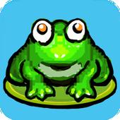青蛙跳躍 圖標
