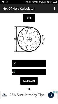 No. of Hole Calculator screenshot 1