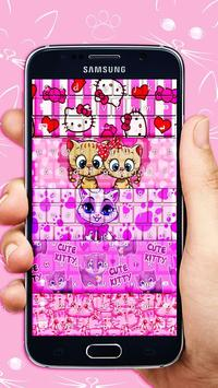 Pink Kitty Keyboard Theme apk screenshot