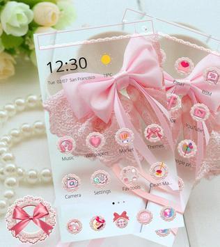 Pink Lace Ribbon Theme screenshot 6